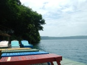 Relaxing at Laguna De Apoyo.